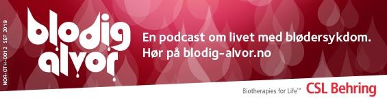 Annonse for Blodig Alvor - en podcast